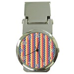 Colorful Chevron Retro Pattern Money Clip Watches Front