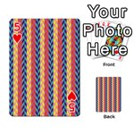 Colorful Chevron Retro Pattern Playing Cards 54 Designs  Front - Heart5