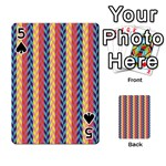 Colorful Chevron Retro Pattern Playing Cards 54 Designs  Front - Spade5
