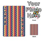 Colorful Chevron Retro Pattern Playing Cards 54 Designs  Front - Joker1