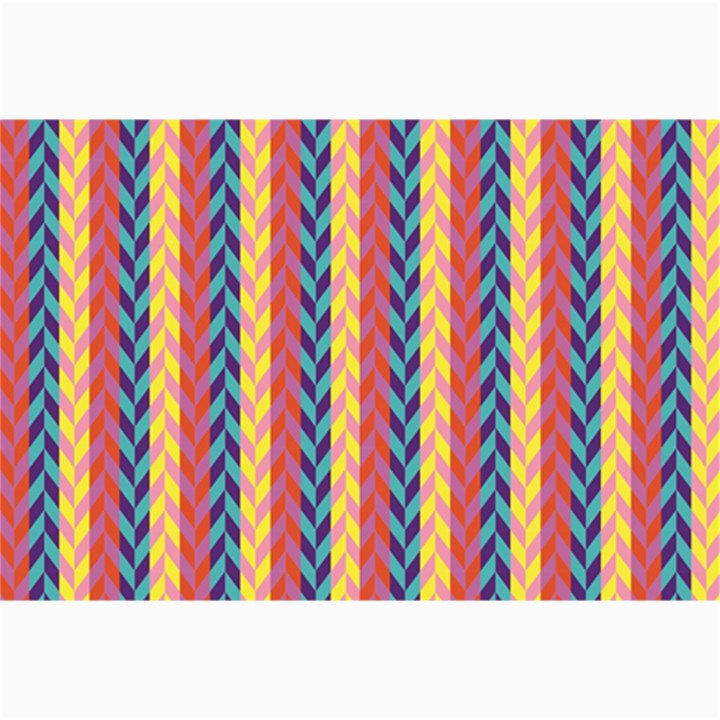 Colorful Chevron Retro Pattern Collage Prints