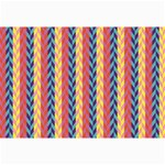 Colorful Chevron Retro Pattern Collage Prints 18 x12 Print - 2