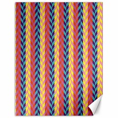 Colorful Chevron Retro Pattern Canvas 12  x 16