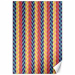 Colorful Chevron Retro Pattern Canvas 12  x 18   18 x12 Canvas - 1