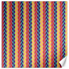 Colorful Chevron Retro Pattern Canvas 16  x 16