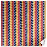Colorful Chevron Retro Pattern Canvas 16  x 16   16 x16 Canvas - 1