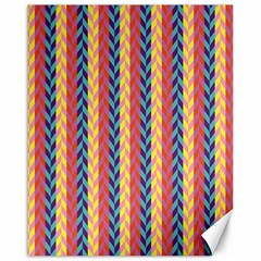 Colorful Chevron Retro Pattern Canvas 16  x 20