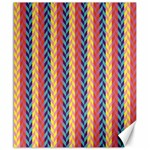 Colorful Chevron Retro Pattern Canvas 20  x 24   24 x20 Canvas - 1