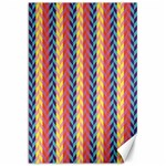 Colorful Chevron Retro Pattern Canvas 20  x 30   30 x20 Canvas - 1