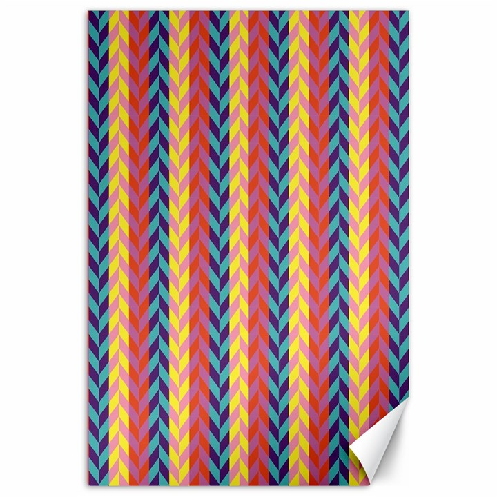 Colorful Chevron Retro Pattern Canvas 20  x 30