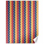 Colorful Chevron Retro Pattern Canvas 36  x 48   48 x36 Canvas - 1