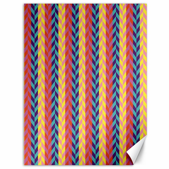 Colorful Chevron Retro Pattern Canvas 36  x 48