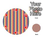 Colorful Chevron Retro Pattern Playing Cards 54 (Round)  Front - HeartQ