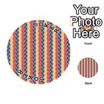 Colorful Chevron Retro Pattern Playing Cards 54 (Round)  Front - Joker1