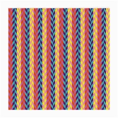 Colorful Chevron Retro Pattern Medium Glasses Cloth