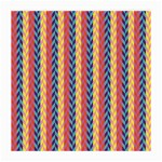 Colorful Chevron Retro Pattern Medium Glasses Cloth Front