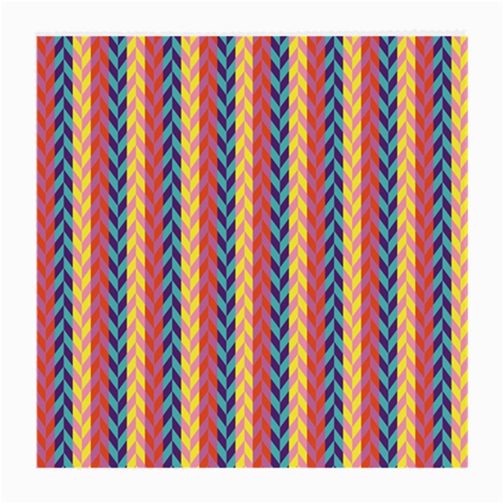 Colorful Chevron Retro Pattern Medium Glasses Cloth (2-Side)