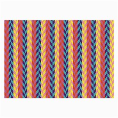 Colorful Chevron Retro Pattern Large Glasses Cloth (2-Side)