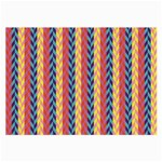 Colorful Chevron Retro Pattern Large Glasses Cloth (2-Side) Front