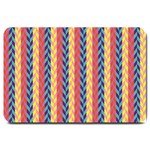 Colorful Chevron Retro Pattern Large Doormat  30 x20 Door Mat - 1