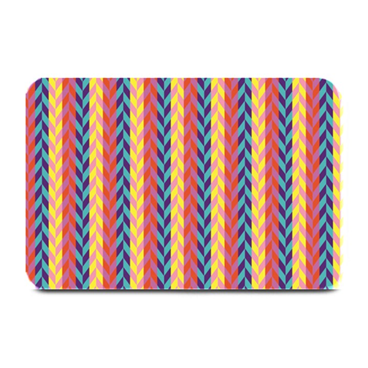 Colorful Chevron Retro Pattern Plate Mats