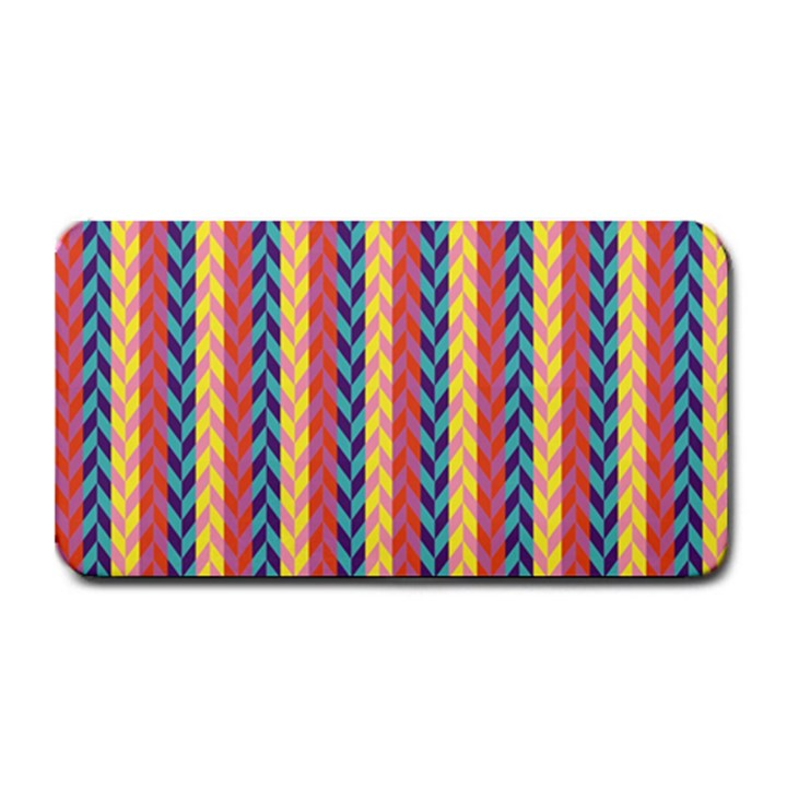 Colorful Chevron Retro Pattern Medium Bar Mats
