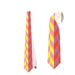 Colorful Chevron Retro Pattern Neckties (One Side)