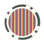 Colorful Chevron Retro Pattern Poker Chip Card Guards Front