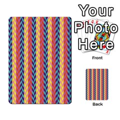 Colorful Chevron Retro Pattern Multi-purpose Cards (Rectangle)