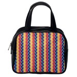 Colorful Chevron Retro Pattern Classic Handbags (One Side) Front