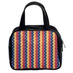 Colorful Chevron Retro Pattern Classic Handbags (2 Sides) Front