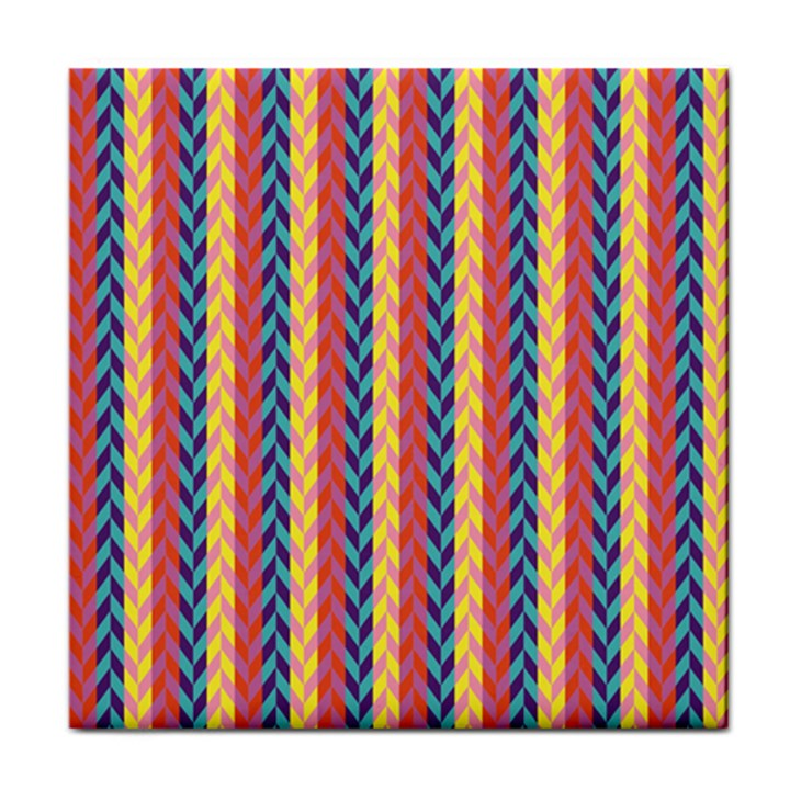 Colorful Chevron Retro Pattern Face Towel