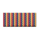 Colorful Chevron Retro Pattern Hand Towel Front