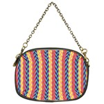 Colorful Chevron Retro Pattern Chain Purses (One Side)  Front