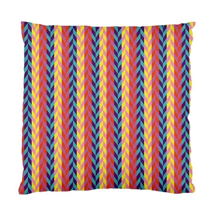 Colorful Chevron Retro Pattern Standard Cushion Case (One Side)