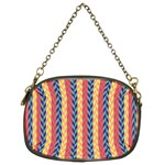Colorful Chevron Retro Pattern Chain Purses (Two Sides)  Front