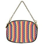 Colorful Chevron Retro Pattern Chain Purses (Two Sides)  Back