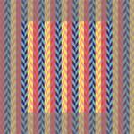 Colorful Chevron Retro Pattern Mini Canvas 4  x 4  4  x 4  x 0.875  Stretched Canvas