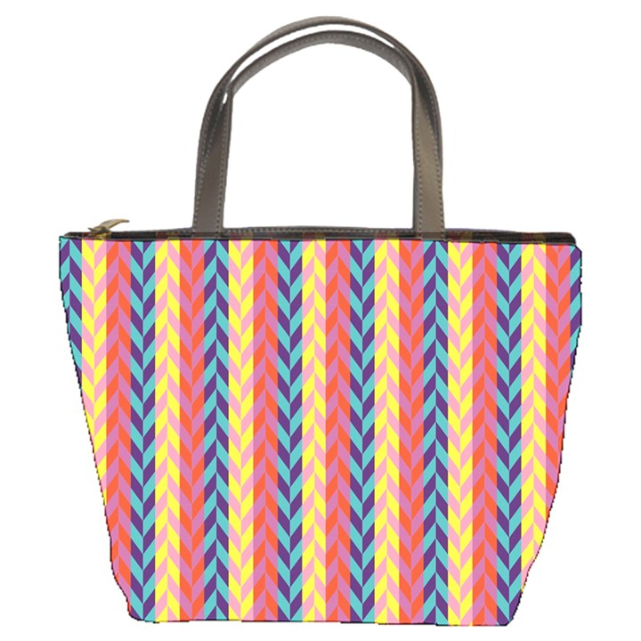 Colorful Chevron Retro Pattern Bucket Bags