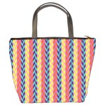 Colorful Chevron Retro Pattern Bucket Bags Back
