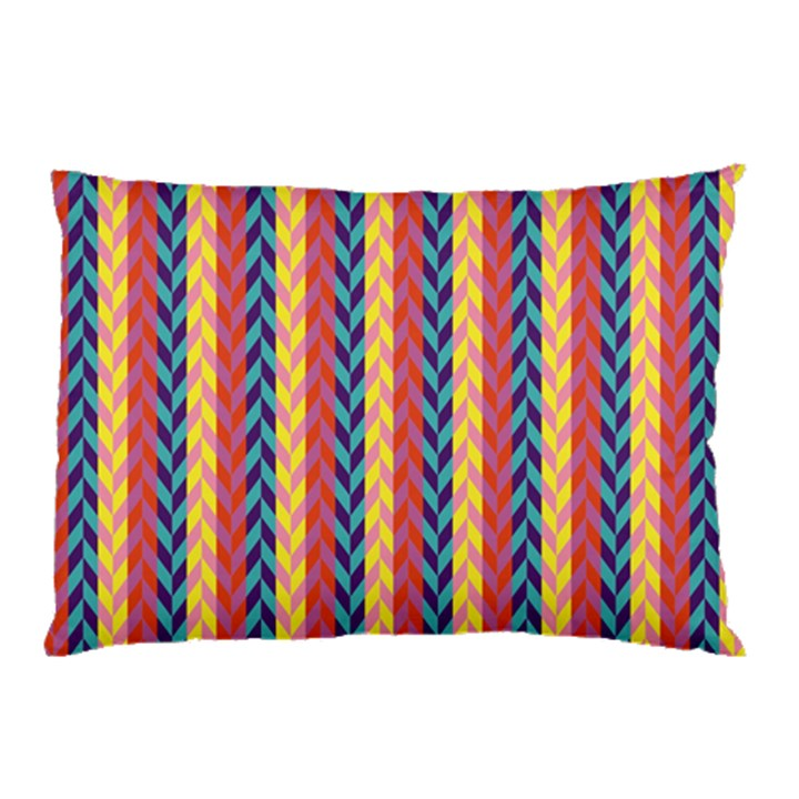 Colorful Chevron Retro Pattern Pillow Case