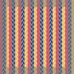 Colorful Chevron Retro Pattern Mini Canvas 8  x 8  8  x 8  x 0.875  Stretched Canvas