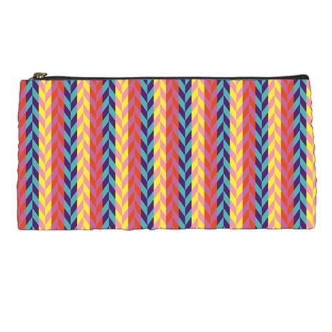 Colorful Chevron Retro Pattern Pencil Cases
