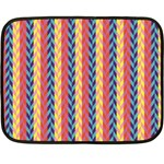 Colorful Chevron Retro Pattern Double Sided Fleece Blanket (Mini)  35 x27 Blanket Front