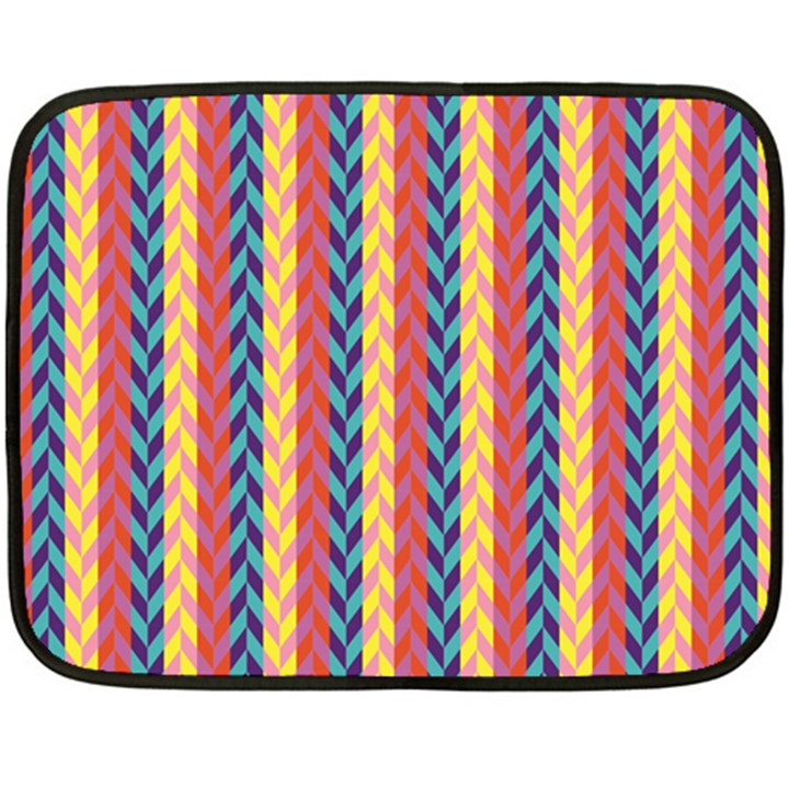 Colorful Chevron Retro Pattern Double Sided Fleece Blanket (Mini)
