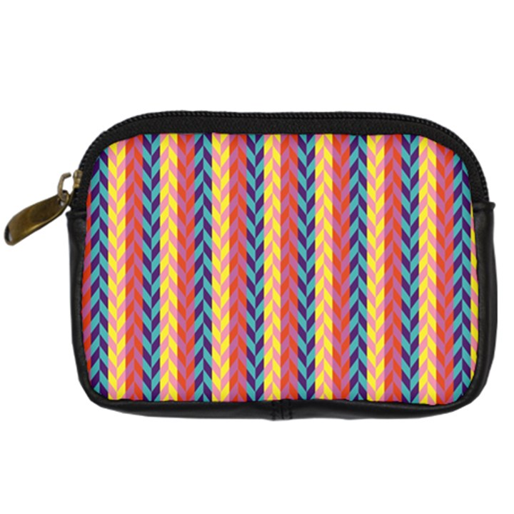 Colorful Chevron Retro Pattern Digital Camera Cases