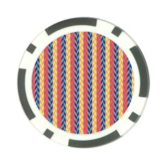 Colorful Chevron Retro Pattern Poker Chip Card Guards (10 pack)