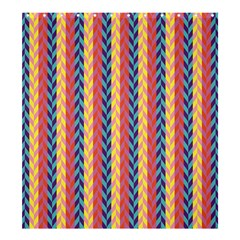 Colorful Chevron Retro Pattern Shower Curtain 66  x 72  (Large)