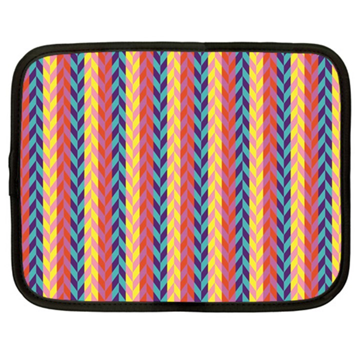 Colorful Chevron Retro Pattern Netbook Case (XXL)