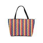 Colorful Chevron Retro Pattern Shoulder Handbags Front